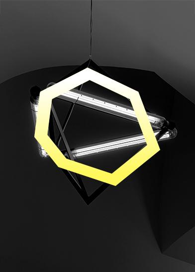 stilisiertes heptagon für planung